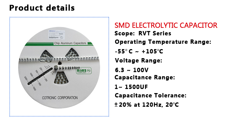 SMD capacitors 10uF 100V