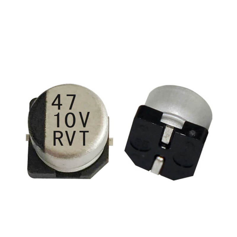 SMD electrolytic capacitor 10V47UF