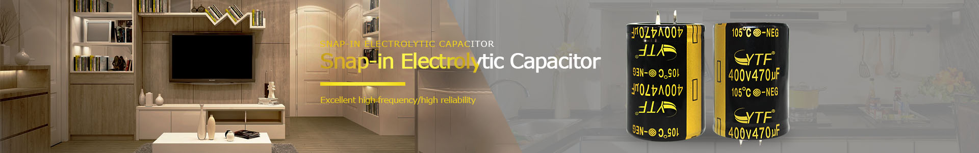 Long life electrolytic capacitor Snap-in 80V3300UF 20% capacitance tolerance new and original - Snap-in Electrolytic Capacitor
