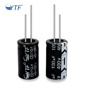 Electrolytic Testing Double Miniture 400V 100UF Aluminum Capacitor For Ceiling Fan