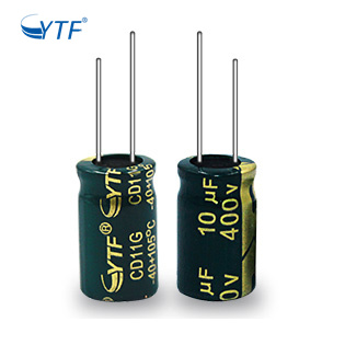 Golden Green General Purpose 400V 10UF Aluminum Electrolytic Capacitor