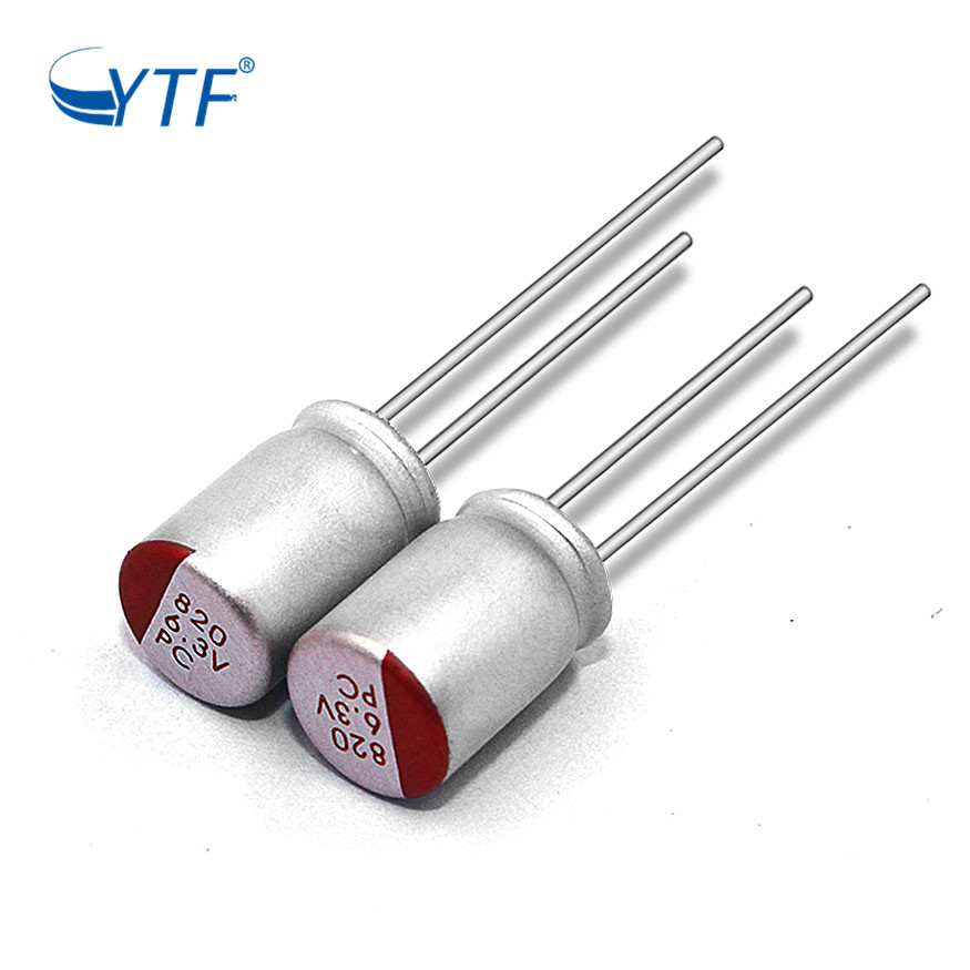 6.3V 820UF Price List Condenser Electronic Solid Aluminum Electrolytic Capacitor