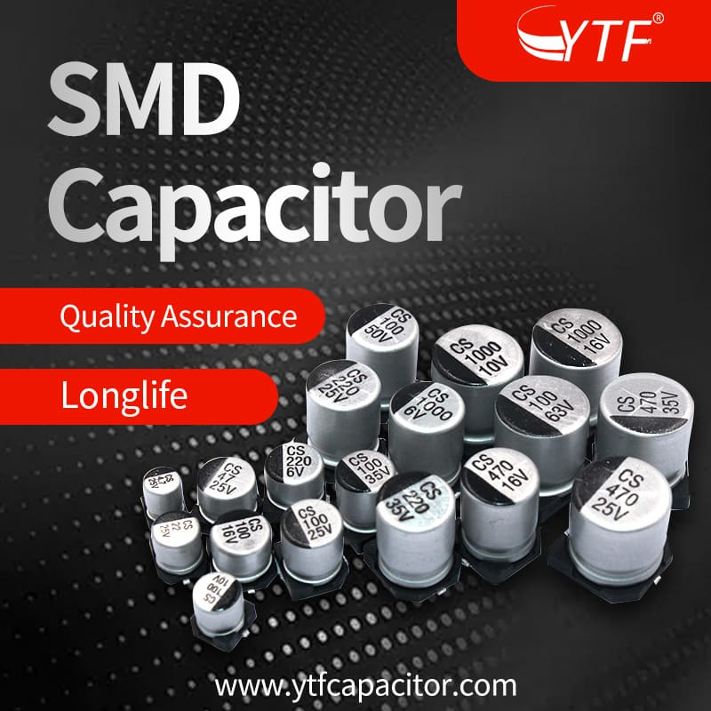 SMD electrolytic capacitors after installation