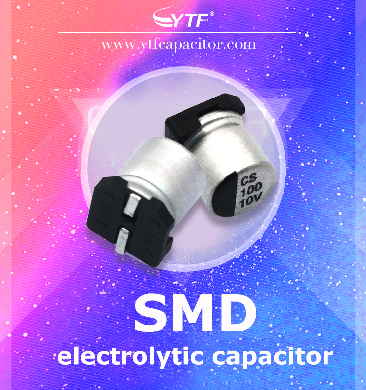 Positive and negative polarization of SMD electrolytic capacitor