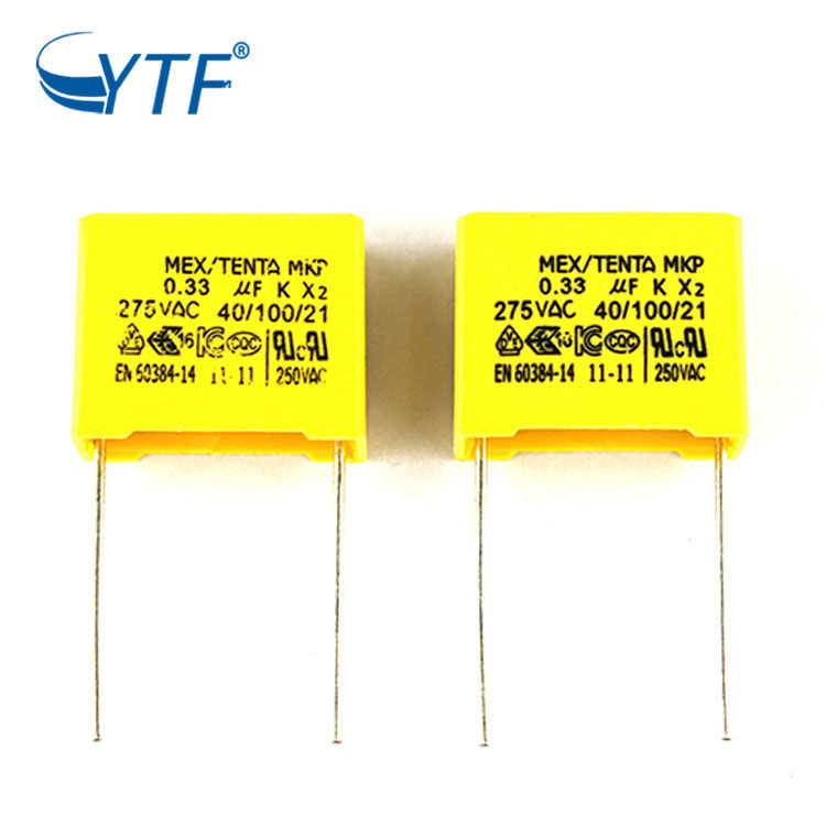 Electronic Circuit Box MKP X2 Safety Capacitor 334 275V P15mm Metallized Polypropylene Film Capacitors 334K