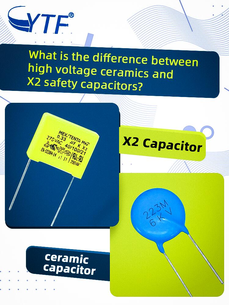 What is the difference between high voltage ceramics and X2 safety capacitors?