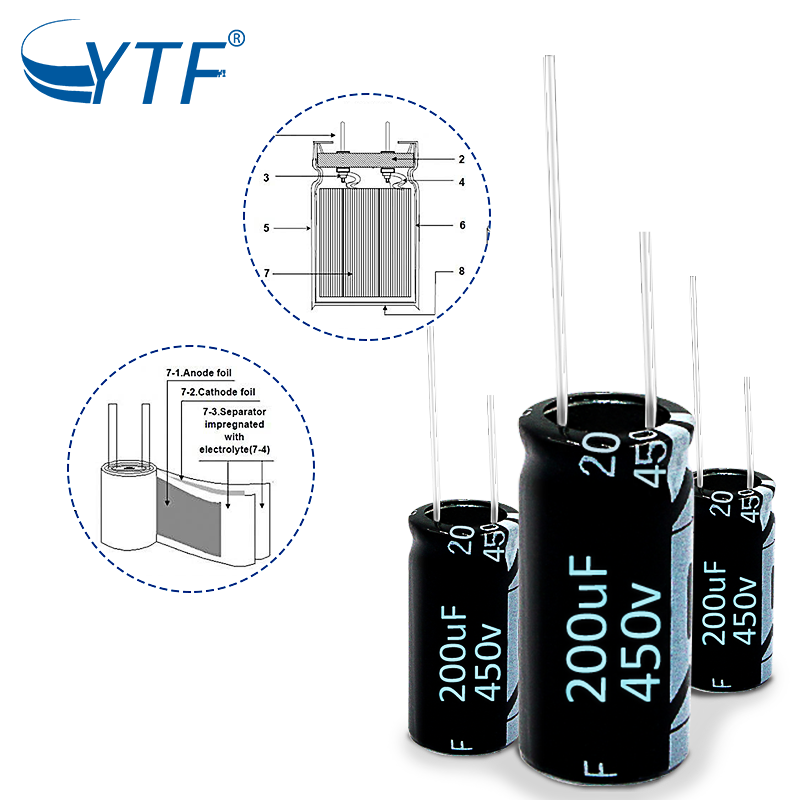 China factory Supplier  Hight quanlity aluminum electrolytic capacitor