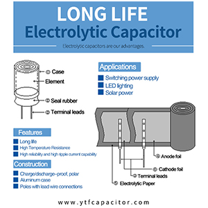 What are the common nouns related to electrolytic capacitors?
