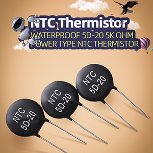How do I limit the inrush current with an NTC thermistor?