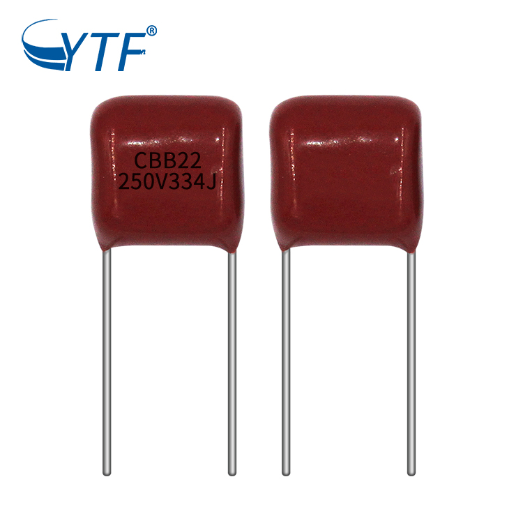 CBB film capacitor 334j 250v motor starting capacitor with cheap price