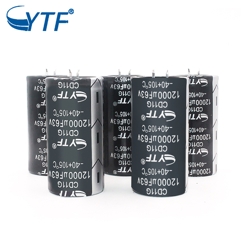 YTF China Manufacturer snap in electrolytic capacitors 63v 12000uf 35x70