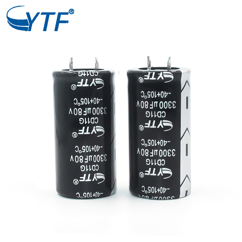 Long life electrolytic capacitor Snap-in 80V3300UF 20% capacitance tolerance new and original