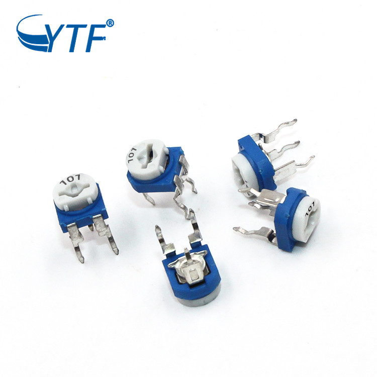 Horizontal Blue and White Adjustable Resistor