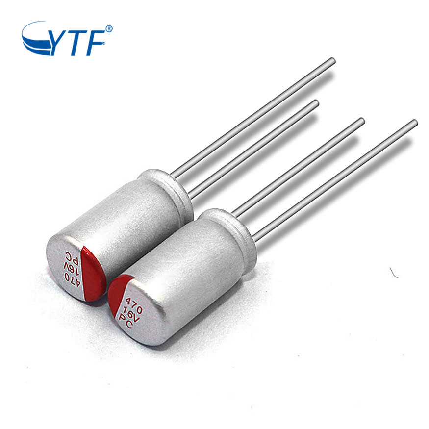 High Pipple Home Appliance Product 16V 470UF Solid Aluminum Capacitor