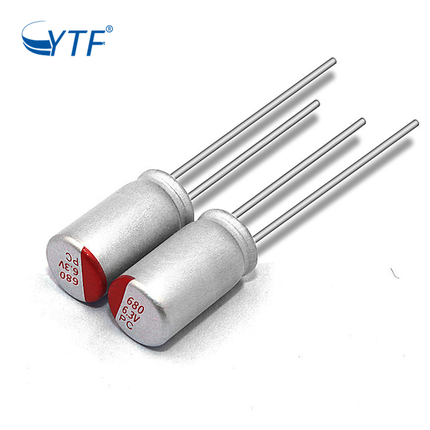 6.3V 680UF High Voltage Testing RoHS Aluminum Solid Electrolytic Capacitor