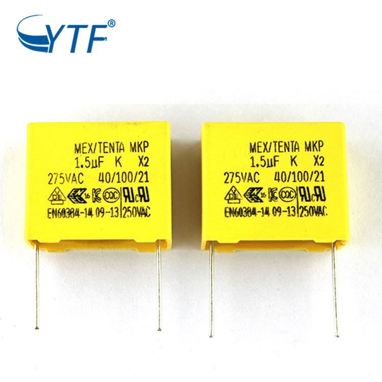 Wholesale Mostzed Polypropylene Film Mkf Capacitor 1.5uf 275vac P27.5mm Popular Metalli